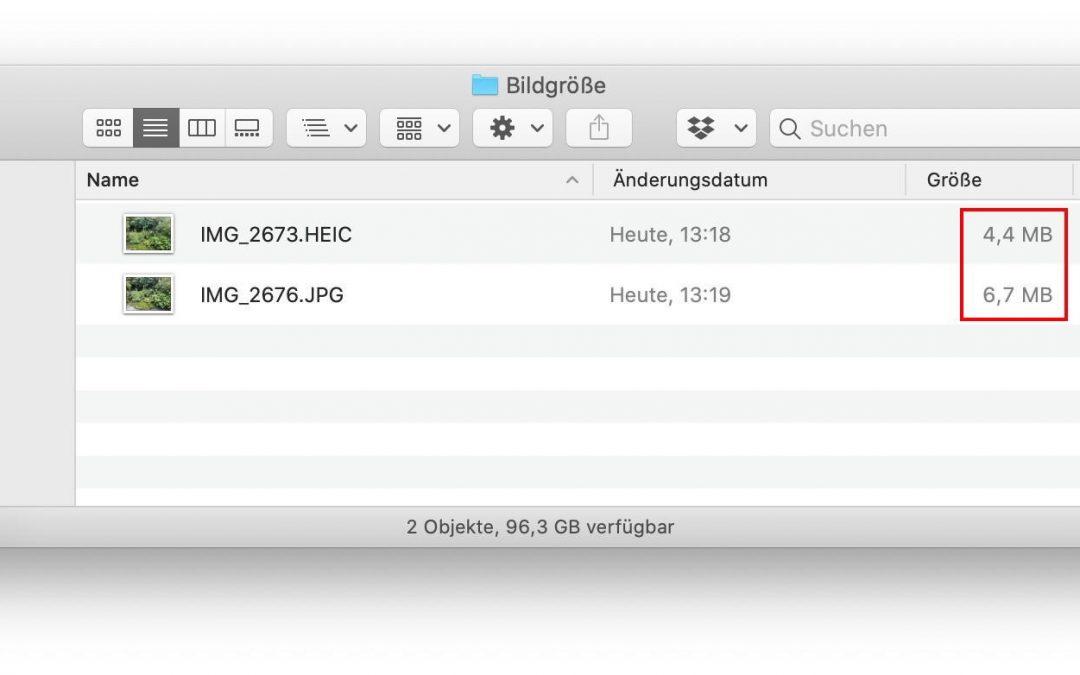 Formate für mehr Platz für Bilder und Videos: HEIF und HEVC