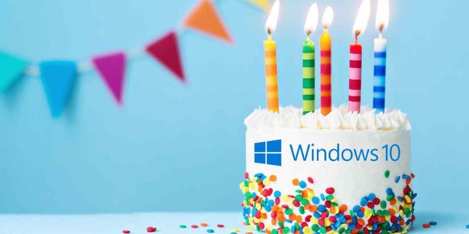 Windows 10 feiert heute den 5. Geburtstag